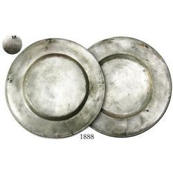 Smaller silver plate with hallmark.
