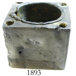 Pewter inkwell.