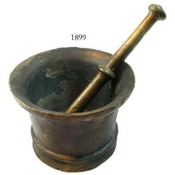 Bronze mortar and pestle.