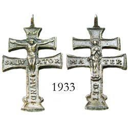 Small, ornate, bronze cross recovered by Art McKee.