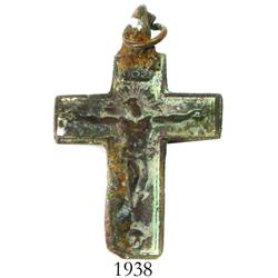 Small, bronze cross, perfectly intact.
