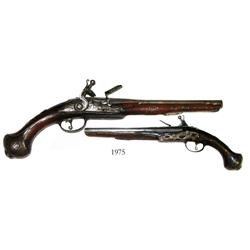Large flintlock pistol, northern Italian, 1660-1680.
