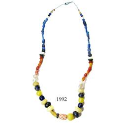Necklace consisting of over 100 colored-glass beads, from a late-1500s Spanish colonial site in the
