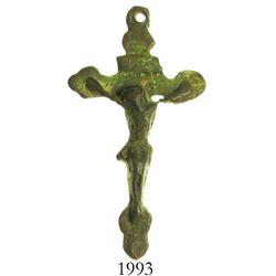 Small bronze crucifix from a Caribbean site, 1600s.