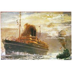 Poster for Sotheby's (London) auction of artifacts from the SS Medina (sunk in 1917 off Devon, Engla