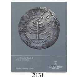 Christie's (New York). Coins from the Wreck of H.M.S. Feversham (February 7, 1989), with prices real
