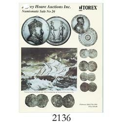 Hoare, Jeffrey (Toronto). Numismatic Sale No 26---Torex (Feversham) (February 26-27, 1993), with pri