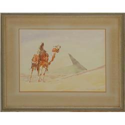 Clark Hulings, watercolor