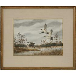David Hagerbaumer, watercolor, dated 1959
