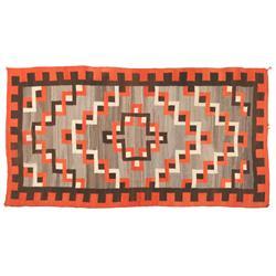 """Navajo Weaving, Klagetoh Area, 103"""" x 55"""", C. 1930s"""