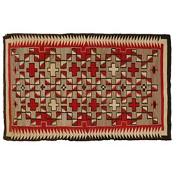 "Navajo Weaving, Western Reservation Area, 85"" x 55"", 1940s"