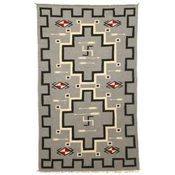 "Navajo Germantown Weaving, 46"" x 27 1/2"", C. 1870-1880, fine condition"
