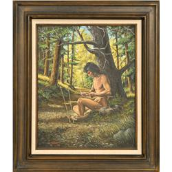 David Ewart, oil on canvas