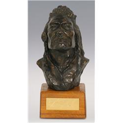"Terry Murphy, cast resin, 7"" x 3"" x 2 1/2"", Joseph Chief of Nez Perce"