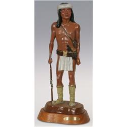 "Robert Cavanaugh, bronze, 1980, 21 1/2"" x 9 1/2"" x 7 1/2"", Apache Scout"