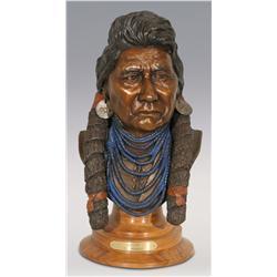 "Jerry Snodgrass, bronze, 1987, 17"" x 10"" x 7 1/2"", Joseph"