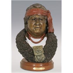 "Jerry Snodgrass, bronze, 1994, 16 1/2"" x 11 1/2"", Columbia Craig"