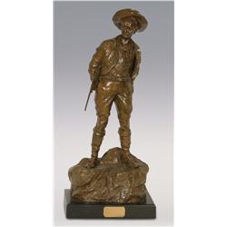 """Carl Kauba, bronze, 19"""" x 9"""" x 6"""", The Hunter"""