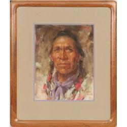 Harley Brown, pastel. Cowboy Artists of America.