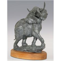 "Sherry Sander, bronze, 1985, 17"" x 14"" x 10"", Standing Elephant"