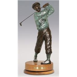 """Jerry Snodgrass, bronze, 21"""" x 8 1/2"""", Designated Driver"""