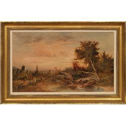 19th century American School oil on canvas