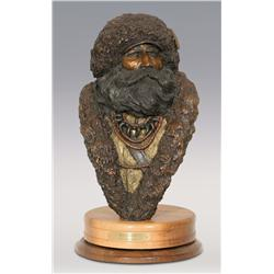 """Jerry Snodgrass, bronze, 1990, 19"""" x 11"""" x 12"""", Beaverman"""