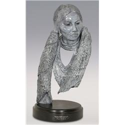"Jerry Snodgrass, bronze, 1989, 16 1/2"" x 9"" x 8"", Birdwoman"