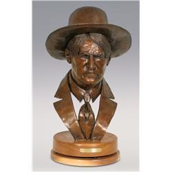 """Jerry Snodgrass, bronze, 1995, 21"""" x 13"""", Charlie"""