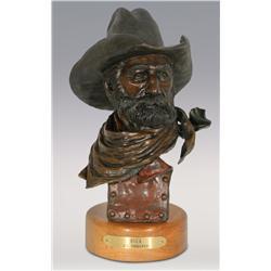 """Jerry Snodgrass, bronze, 1991, 13 1/2"""" x 6"""" x 5"""", Buck"""