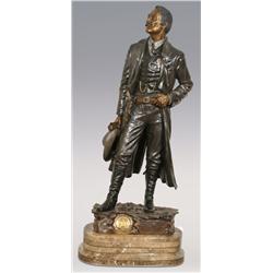 "David Manual, bronze, 41"" x 16"" x 12"", Frontier Marshal. Impressive size!"