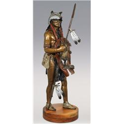 "Jerry Snodgrass, large bronze, 1997, 48"" x 18"", Prince of the Plains. Impressive size!"