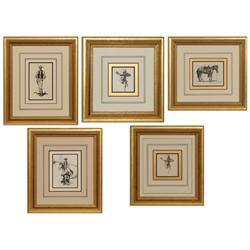 Burt Procter, five drawings