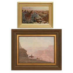 Burt Procter, two oil paintings