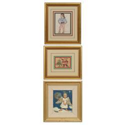 Burt Procter, three drawings