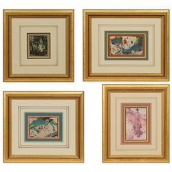 Burt Procter, four paintings