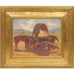 Ferdinand Burgdoff, oil on board