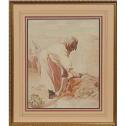 Joseph A. Imhof, watercolor