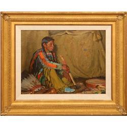 Joseph H. Sharp, oil on canvas