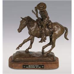 "Leo Beaulaurier, bronze, 9 1/2"" x 8"" x 4 1/2"", Tracking Bear"