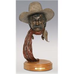 """Jerry Snodgrass, bronze, 19 1/2"""" x 11"""", Drover"""