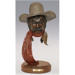 """Jerry Snodgrass, bronze, 1993, 20"""" x 12"""", Drover"""