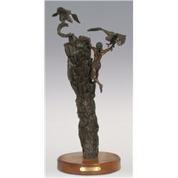 "Bob Stayton, bronze, 1983, 25"" x 13"", The Price of Honor"