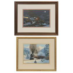R.E. Pierce, two railroad oils on board