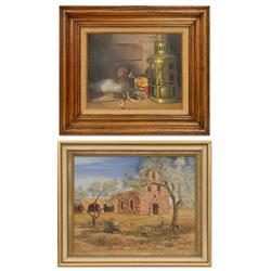 Gene Purse and Huntzinger oils on canvas