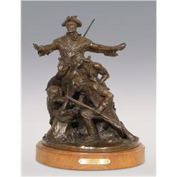 """Stanley Wanlass, bronze, 1980, 14"""" x 12"""", Arrival"""