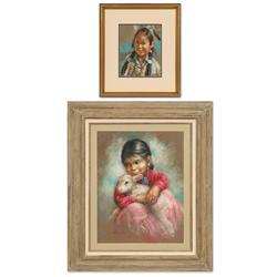 Alice Joy pastel and Patty Reid pastel