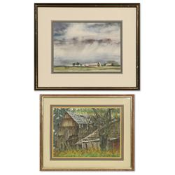 Two watercolors by Lynda Snodgrass and Ted Haines