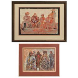 Ann Bowker, four paintings