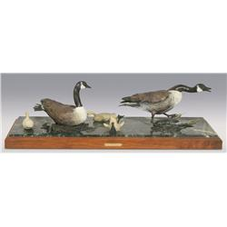 "Ronald Adamson, bronze, 1992, 11"" x 37 1/2"" x 13 1/2"", Intruder"